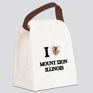 I love Mount Zion Illinois Canvas Lunch Bag