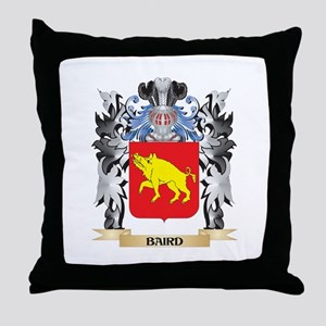 Baird Coat of Arms - Family Crest Throw Pillow