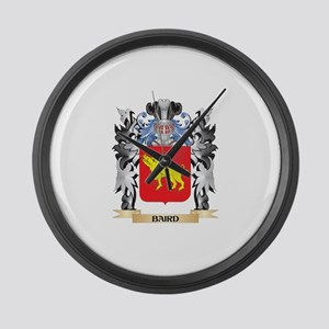 Baird Coat of Arms - Family Crest Large Wall Clock