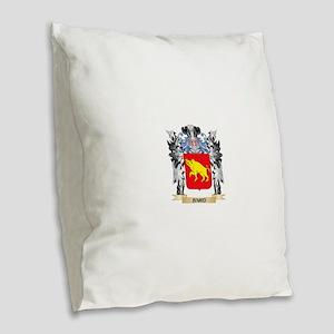 Baird Coat of Arms - Family Cr Burlap Throw Pillow