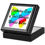 85th birthday Square Keepsake Boxes