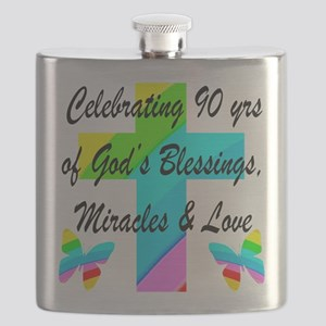 90 YR OLD BLESSING Flask