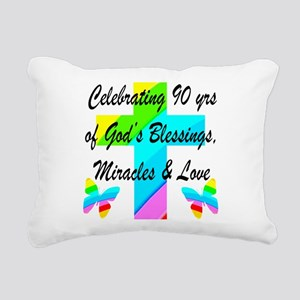 90 YR OLD BLESSING Rectangular Canvas Pillow