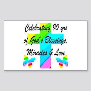 90 YR OLD BLESSING Sticker (Rectangle)