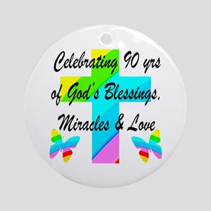 90 YR OLD BLESSING Ornament (Round)