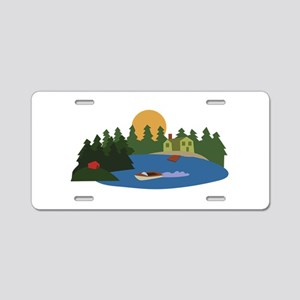 Lake House Aluminum License Plate