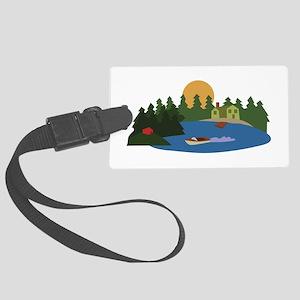 Lake House Luggage Tag