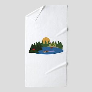 Lake House Beach Towel