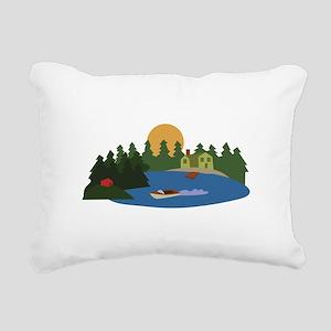 Lake House Rectangular Canvas Pillow