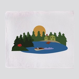 Lake House Throw Blanket