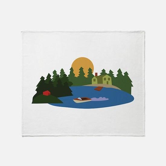 Lake House Throw Blanket