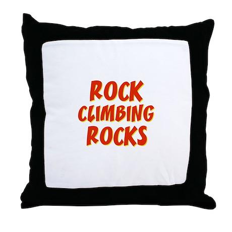 Rock Climbing Rocks Throw Pillow