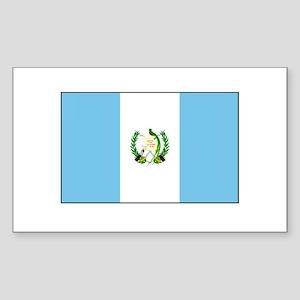 Guatemalan Flag Rectangle Sticker