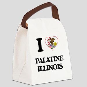 I love Palatine Illinois Canvas Lunch Bag