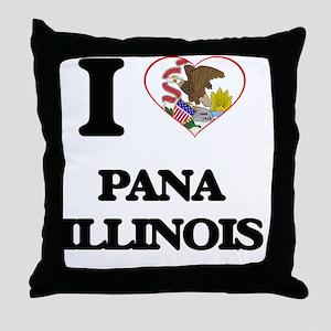 I love Pana Illinois Throw Pillow