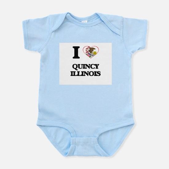 I love Quincy Illinois Body Suit