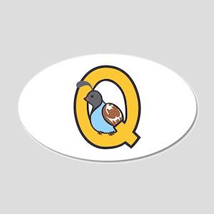Q Quail Wall Decal