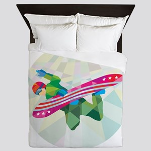 Snowboarder Snowboard Jumping Low Polygon Queen Du