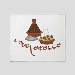 Tagine Morocco Throw Blanket
