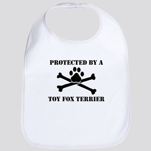 Protected By A Toy Fox Terrier Bib