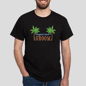 Groom Tropical Wedding Dark T-Shirt