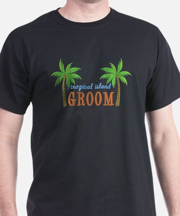Groom Tropical Wedding T-Shirt