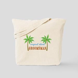 Groomsman Tropical Wedding Tote Bag