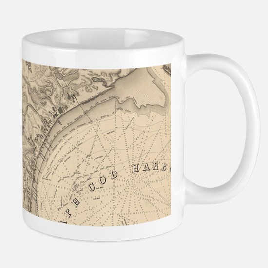 Vintage Map of Provincetown (1836) Mugs