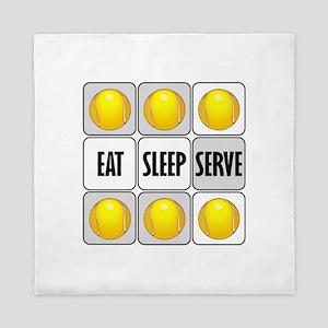 Eat Sleep Serve Tennis Queen Duvet