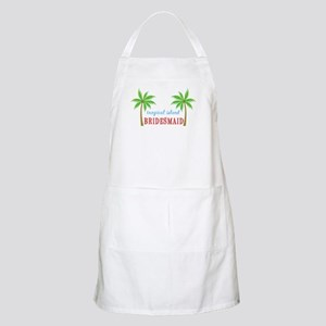 Bridesmaid Tropical Island BBQ Apron