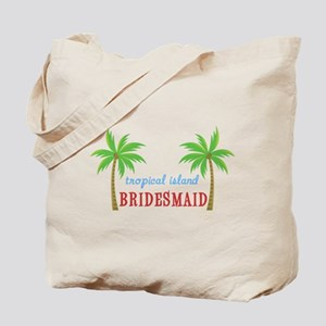 Bridesmaid Tropical Island Tote Bag