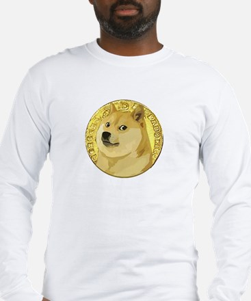 ANCIENT DOGE DOGECOIN COIN Long Sleeve T-Shirt
