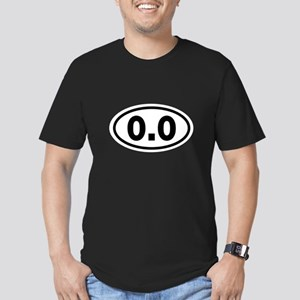 0.0 and 2.6 Men's Fitted T-Shirt (dark)