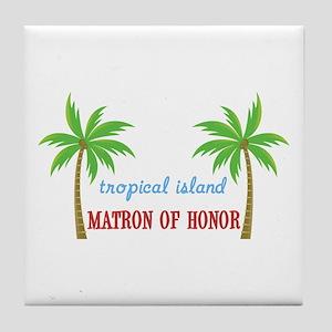 Tropical Matron of Honor Tile Coaster