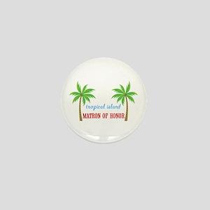 Tropical Matron of Honor Mini Button