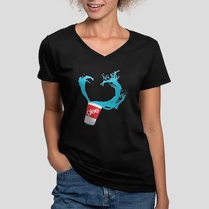 Glee Slushie Women's V-Neck Dark T-Shirt