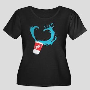 Glee Slu Women's Plus Size Scoop Neck Dark T-Shirt
