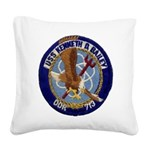 USS KENNETH D. BAILEY Square Canvas Pillow