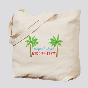 Tropical Wedding Party Tote Bag