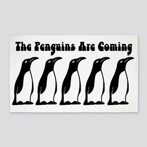 The Penguins Are Coming Area Rug