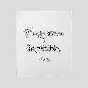 Transformation Is Inevitable Throw Blanket
