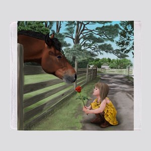 special connections between a girl and her horse T