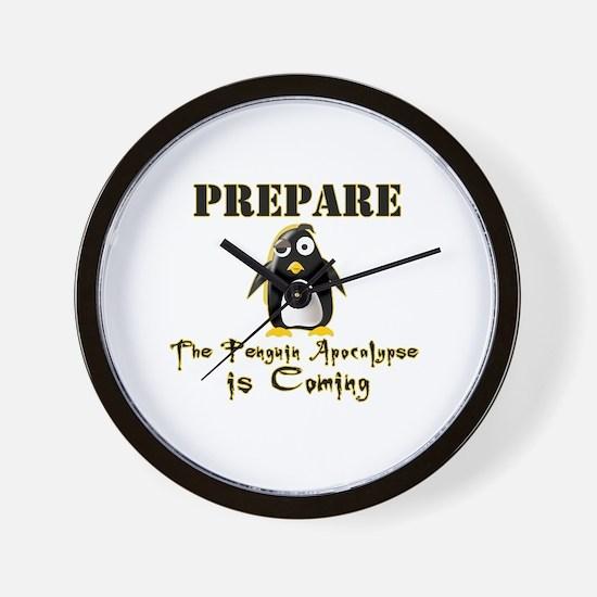 The Penguin Apocalypse Wall Clock