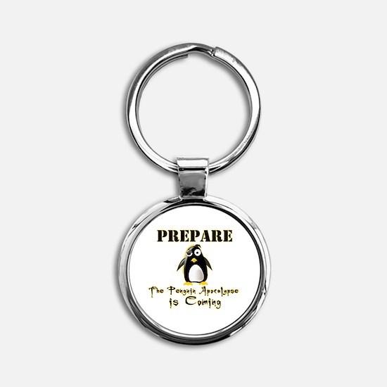The Penguin Apocalypse Round Keychain
