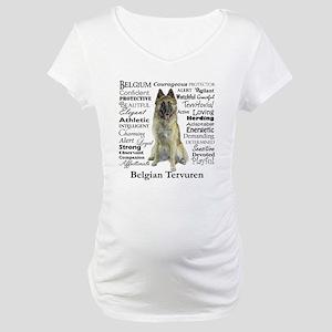 Belgian Tervuren Traits Maternity T-Shirt