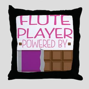 Flute Player Throw Pillow
