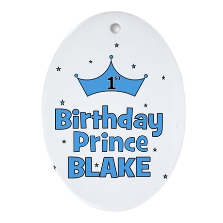 CUSTOM - 1st Birthday Prince! Oval Ornament