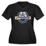 USS KENTUCKY Women's Plus Size V-Neck Dark T-Shirt