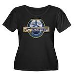 USS KENT Women's Plus Size Scoop Neck Dark T-Shirt