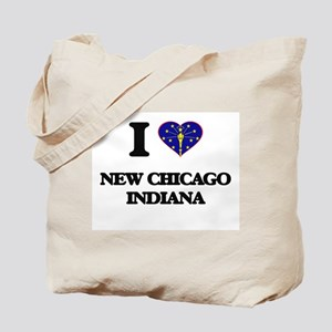 I love New Chicago Indiana Tote Bag